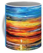 Sunset - Palette Knife Oil Painting On Canvas By Leonid Afremov Coffee Mug