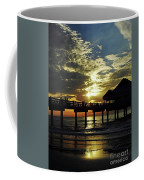 Sunset Pier Reflection Coffee Mug