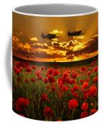 Sunset Poppies Fighter Command Coffee Mug