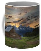 Moulton Barn Sunset Grand Teton National Park Coffee Mug