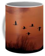 Sunset Sandhill Cranes  Coffee Mug