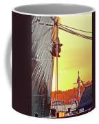 Sunset Ship Coffee Mug