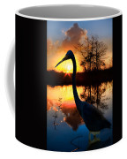 Sunset Silhouette Coffee Mug by Debra and Dave Vanderlaan