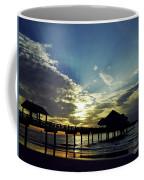 Sunset Silhouette Pier 60 Coffee Mug