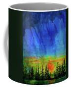 Sunset Silhouette With Canada Geese Coffee Mug