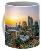 Sunset Sunrise Over Charlotte Skyline North Carolina Coffee Mug