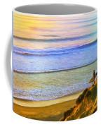 Sunset Surf At La Jolla Coffee Mug