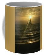 Sunset Through Sailboat Coffee Mug