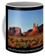 Sunset Tour Valley Of The Gods Utah Text 09 Black Coffee Mug