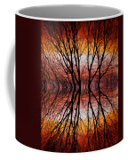 Sunset Tree Silhouette Abstract 2 Coffee Mug