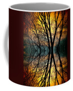 Sunset Tree Silhouette Abstract 3 Coffee Mug
