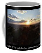 Sunset Valley Of The Gods Utah 01 Text Black Coffee Mug