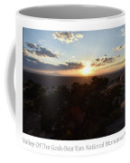 Sunset Valley Of The Gods Utah 01 Text Coffee Mug