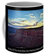 Sunset Valley Of The Gods Utah 03 Text Black Coffee Mug