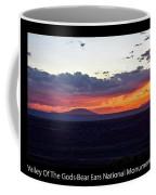 Sunset Valley Of The Gods Utah 05 Text Black Coffee Mug
