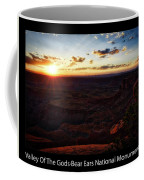 Sunset Valley Of The Gods Utah 11 Text Black Coffee Mug