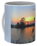 Sunset West Of Myers Bagels Vertical Coffee Mug