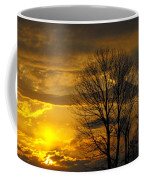 Sunset With Backlit Trees Coffee Mug