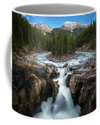 Sunwapta Falls In Jasper National Park Coffee Mug by James Udall