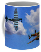 Supermarine Spitfire Mk1 And Avro Lancaster - Oil Coffee Mug