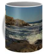 Surf At Nubble Light Coffee Mug