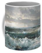 Surf On The Rocks Coffee Mug