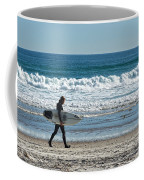 Surfer And His Board Coffee Mug