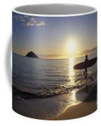 Surfer At Sunrise Coffee Mug