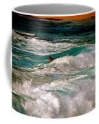 Surfer On Surf, Sunset Beach Coffee Mug