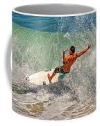 Surfing Action  Coffee Mug