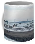 Surfing On Good Harbor Beach Gloucester Ma Coffee Mug