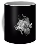 Surgeonfish Skeleton In Silver On Black  Coffee Mug