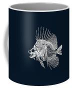 Surgeonfish Skeleton In Silver On Blue  Coffee Mug