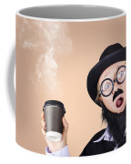 Surprised Business Person High On Coffee Coffee Mug
