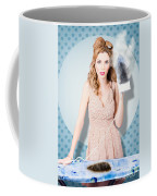 Surprised Housewife With Burnt Out Ironing Board Coffee Mug