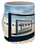 Surreal Elephant Desert Scene Coffee Mug