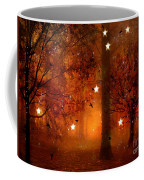 Surreal Fantasy Autumn Woodlands Starry Night Coffee Mug
