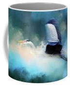 Surreal Stork In A Storm Coffee Mug