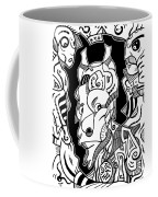 Surrealism Pagan Black And White Coffee Mug