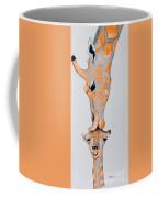 Surrealist Mother And Baby Giraffe  Coffee Mug