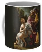 Susanna And The Elders Coffee Mug by Ottavio Mario Leoni