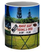 Sushi And Football In Hawaii Coffee Mug