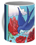 Swallows And Roses Coffee Mug