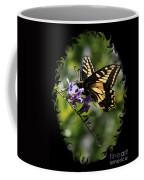 Swallowtail Butterfly 1 With Swirly Frame Coffee Mug