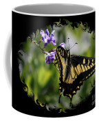 Swallowtail Butterfly 2 With Swirly Framing Coffee Mug