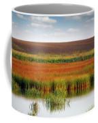 Swamp And Field Landscape Autumn Season Coffee Mug