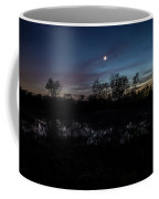Swamp At Dusk With Moon Coffee Mug