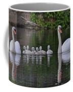 Swan Family Portrait Coffee Mug
