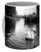 Swan In Black And White Coffee Mug