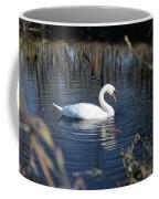 Swan In Blue Pond Coffee Mug